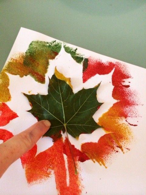 Craft Ideas For Kids Autumn Leaf Painting Jesien Creative