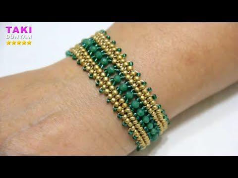 Photo of Jewelry Design-Concubine Bracelet Making-HERRİNGBONE TECHNIQUE-TUTORIAL-DIY