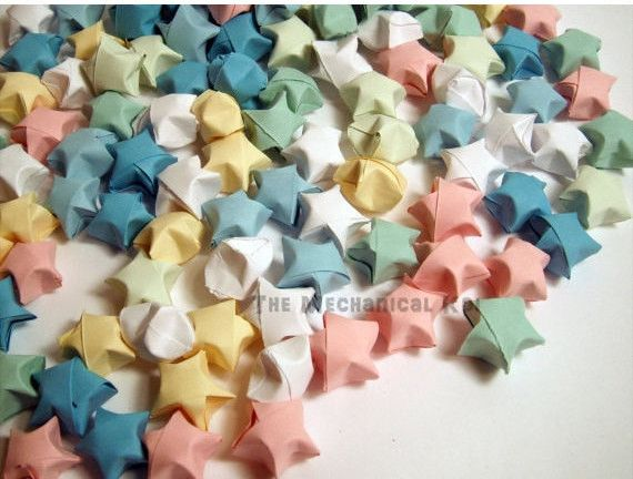 Pastel Origami Lucky Stars 100 Wishing Stars Gift Ready To Ship