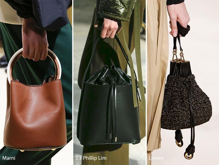 The Fall Winter 2017 Handbag Trends Are Churning Out These Drawstring
