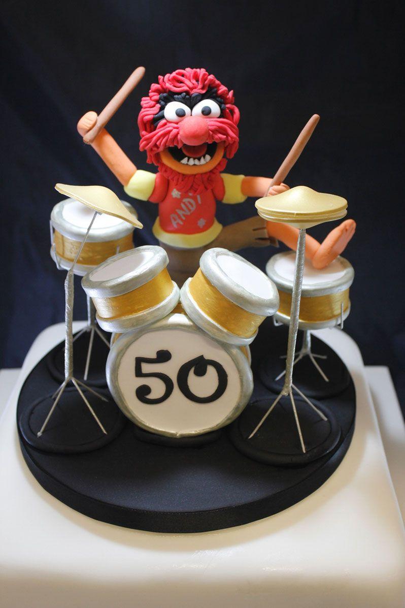 Metal Drum Kit Birthday Cake