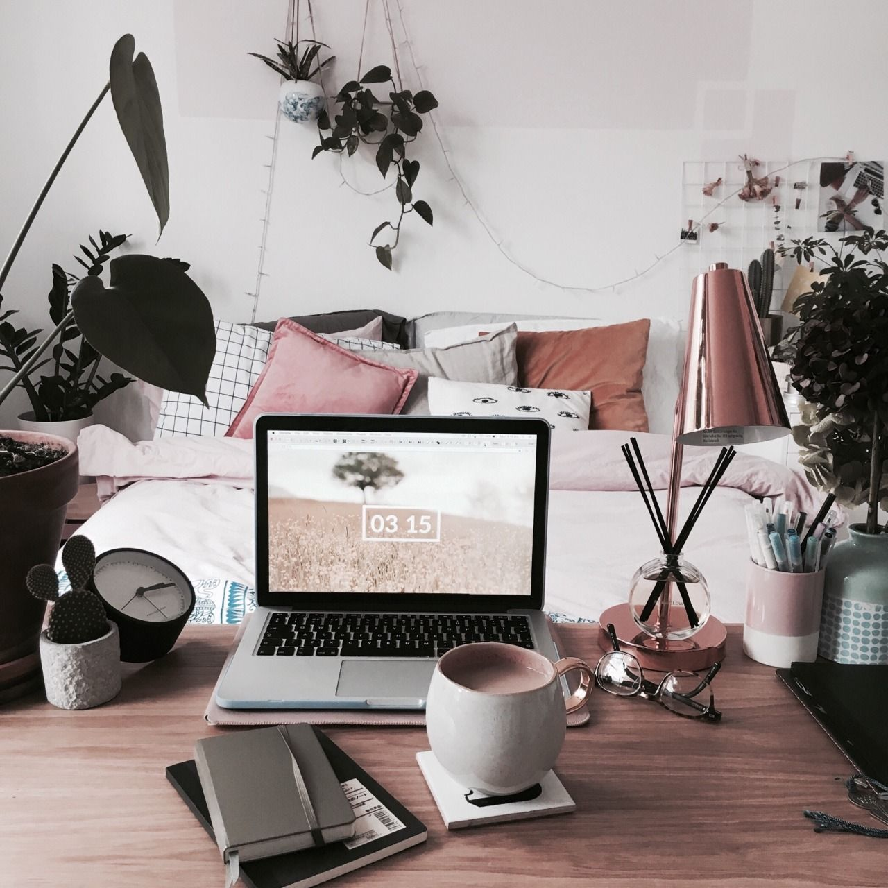 Workspace Inspo Tumblr Styled Social Workspace Home Office