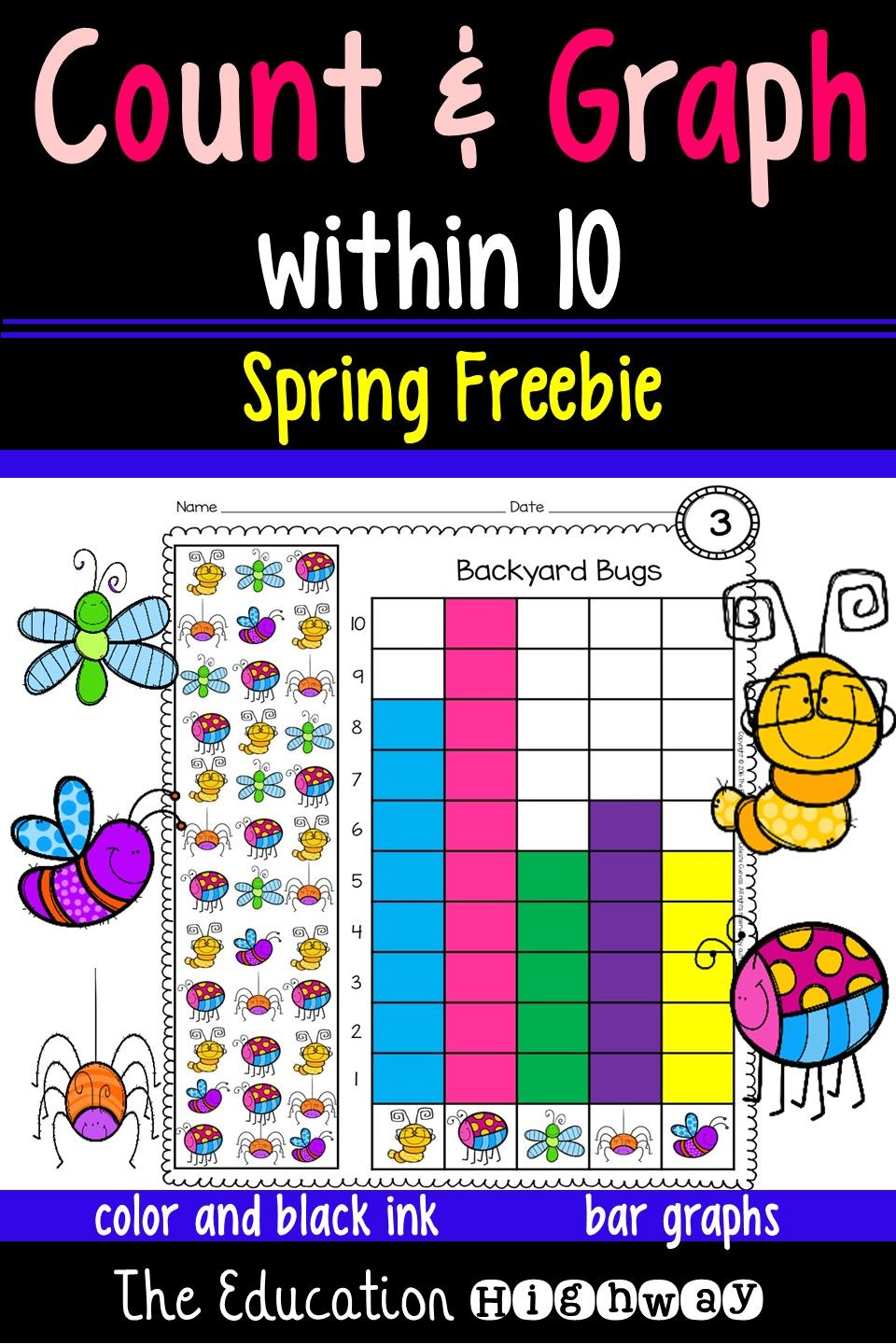 Count and graph freebie within 10. These bar graphs come in color ...