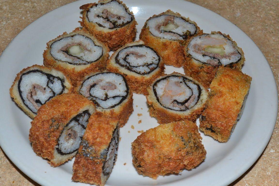 Como hacer sushi frito recetas pinterest oriental - Como hacer pimientos verdes fritos ...