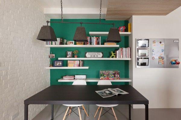 Stadt-Weiß und Schwarz-Modern Apartment Interior Design: Moderner ...