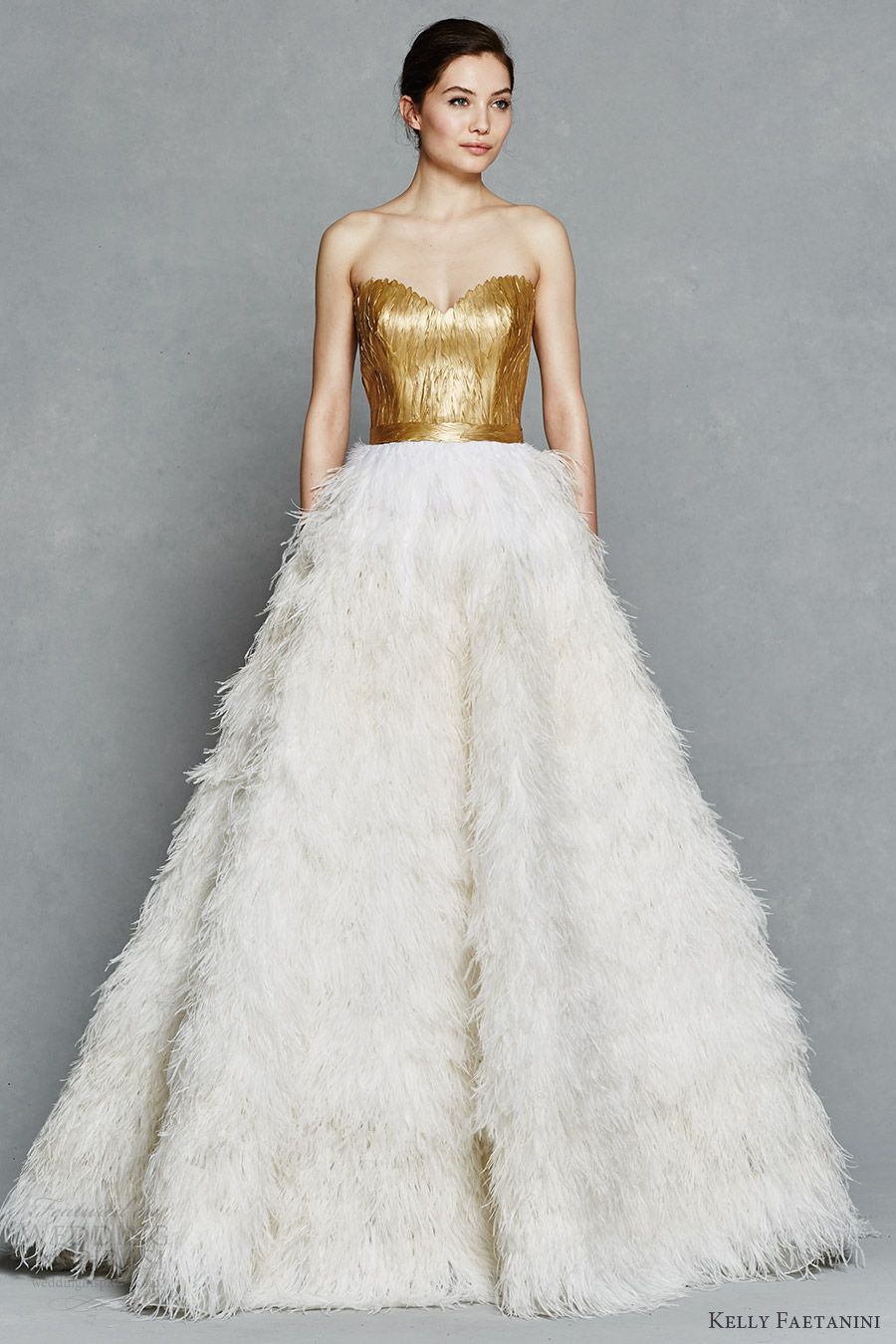 Kelly Faetanini Spring 2017 Wedding Dresses | Painted feathers, Ball ...
