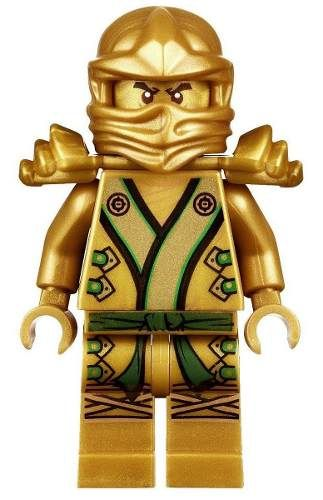 X - Boneco Lego Ninjago Lloyd Ninja Dourado Com Espada Do