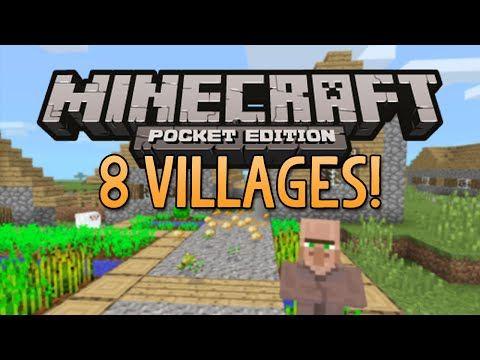8 VILLAGES SEED Minecraft Pocket Edition Best Village Seed