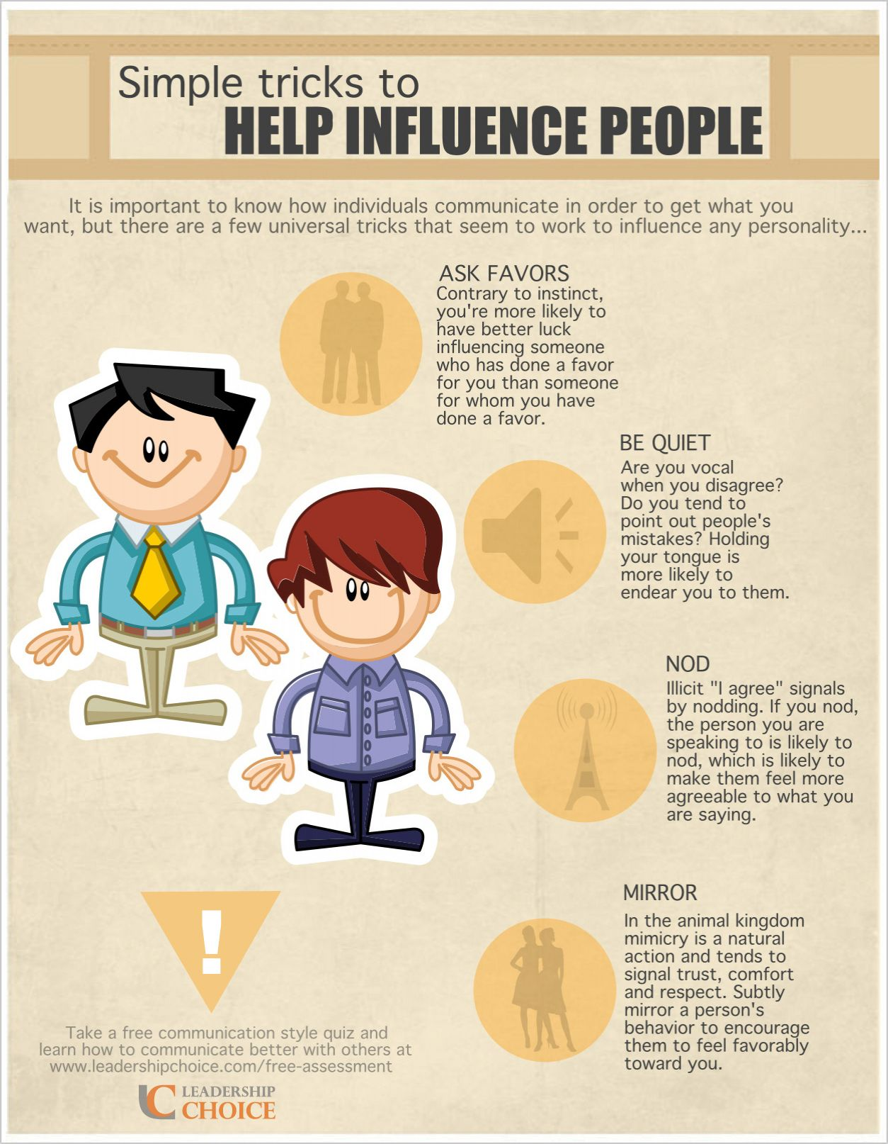 How to Influence People - 4 Simple Tricks. www.leadershipchoice.com