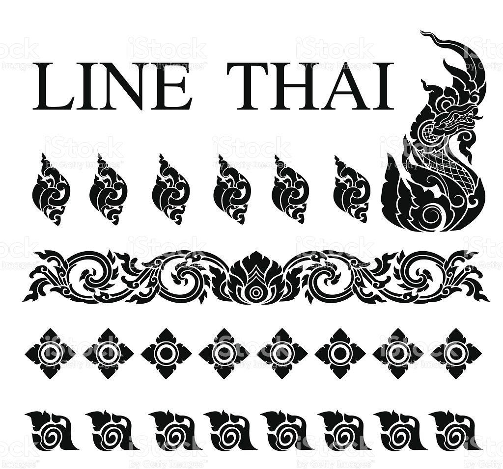 Thai Art Pattern Vector In Eps10