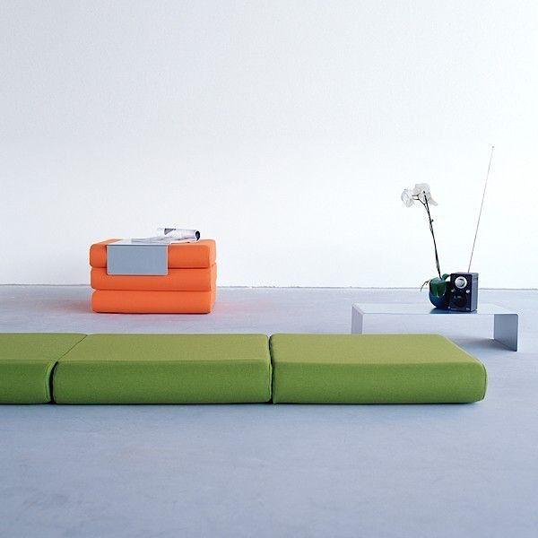 BINGO :, cama supletoria otomana y la mesa lateral: Versátil y ...