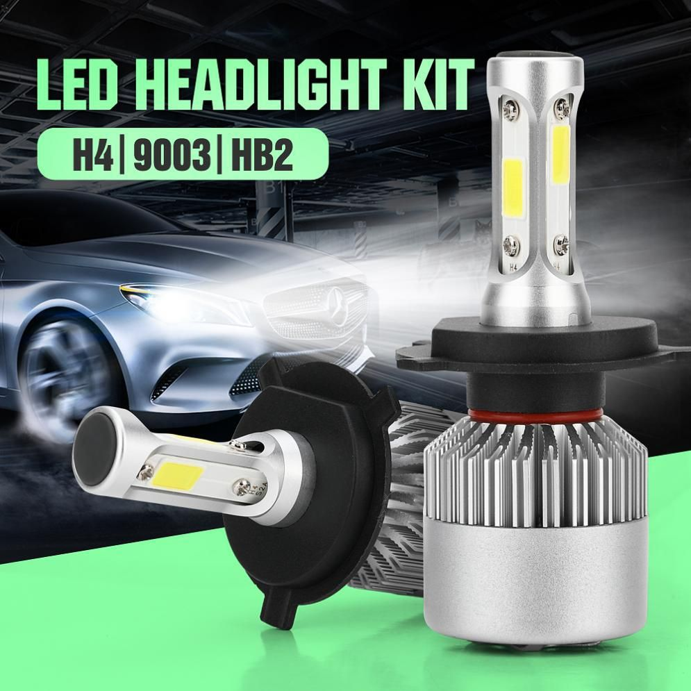 1pair Universal H4 72w 8000lm White Led Car Headlight Bulb 12v 6000k Us 16 31 Led Headlights Led Headlights Cars Car Headlights