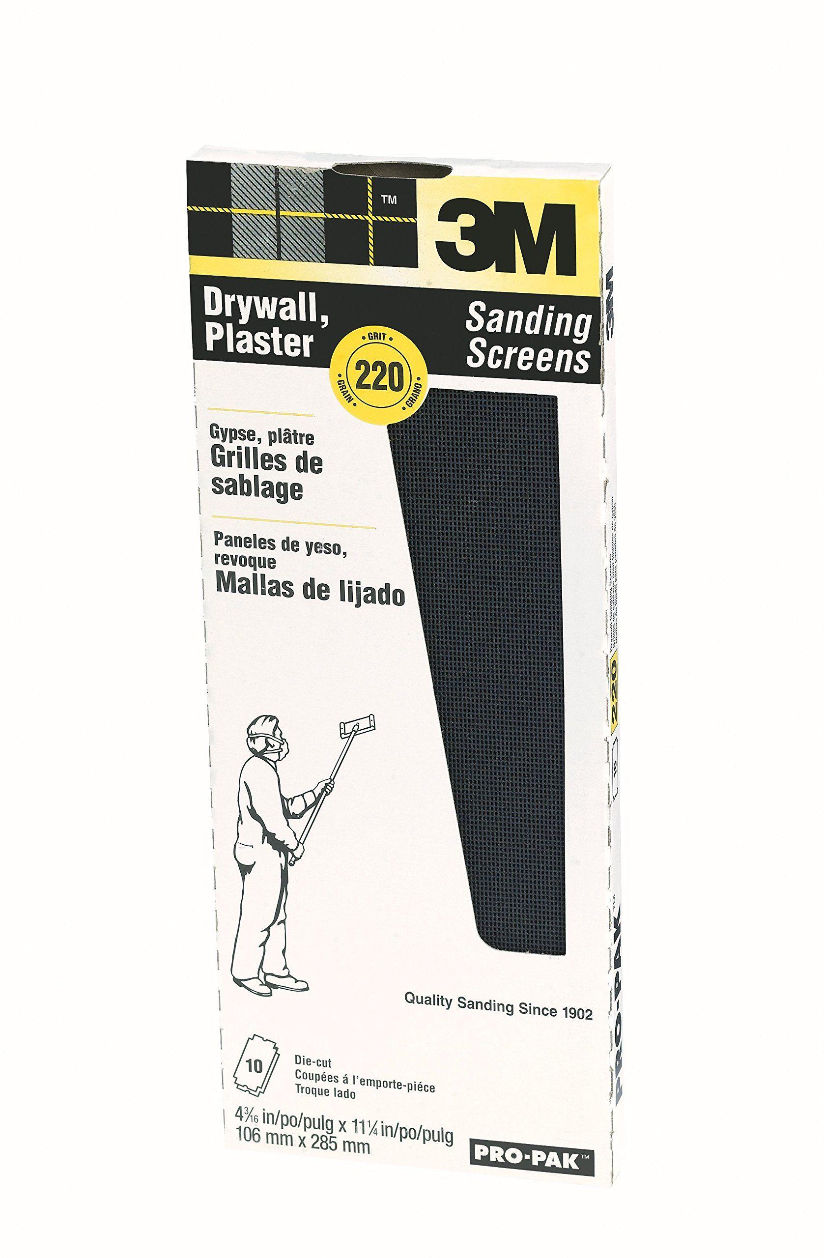 3m 99436 Drywall Sanding Screens Pro Pak 220 Grit 10 Pack Screens Pro Sanding Drywall Sanding Drywall Grit