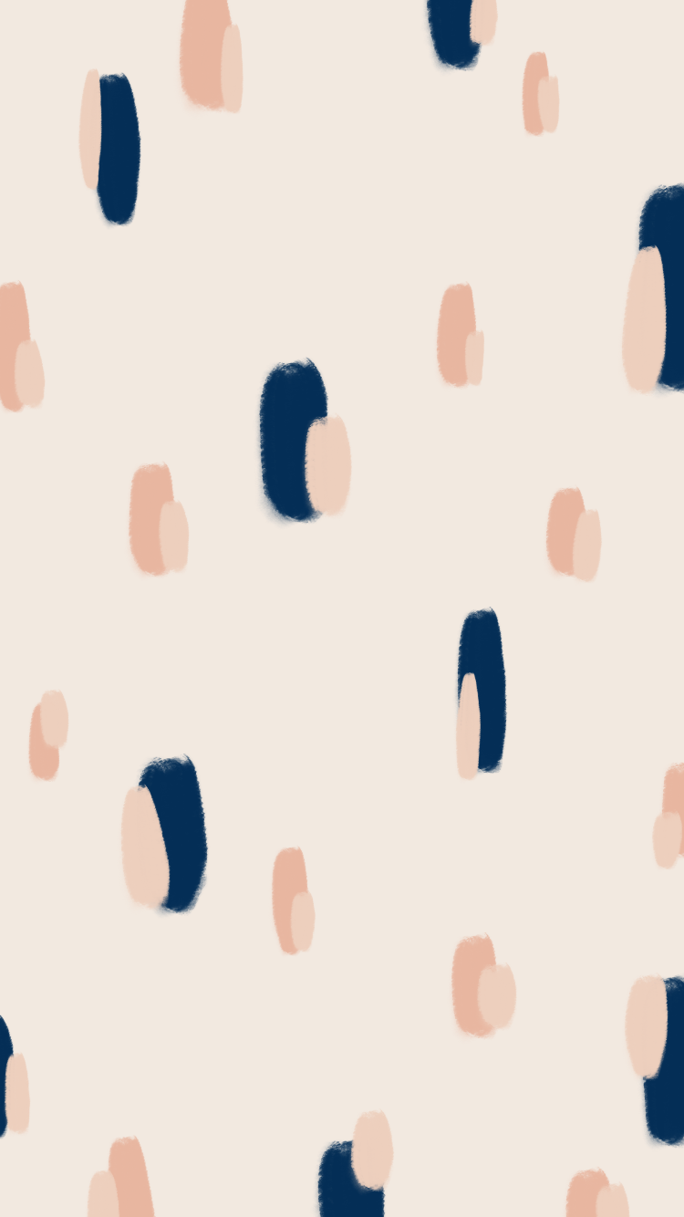 Pattern Inspiration Navy And Coral Paint Stroke Pattern Art