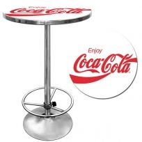 Nice Coca Cola Pub Tables And Swivel Bar Stools, Made Of Quality Steel And  Featuring The Classic Coke Logo.