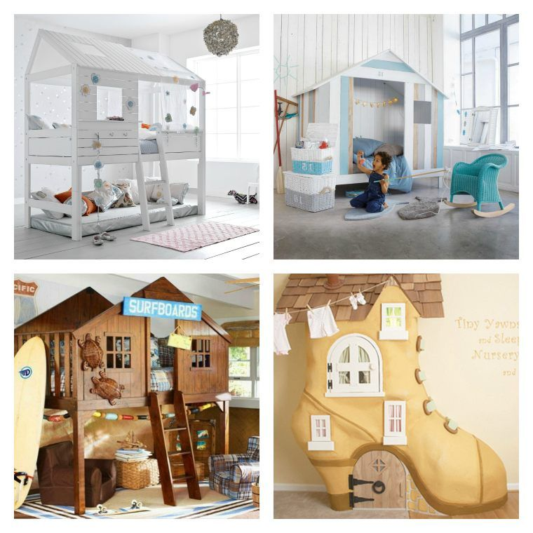 lit enfant cabane et solutions originales pour fille et gar on chambre pour enfant deco de. Black Bedroom Furniture Sets. Home Design Ideas