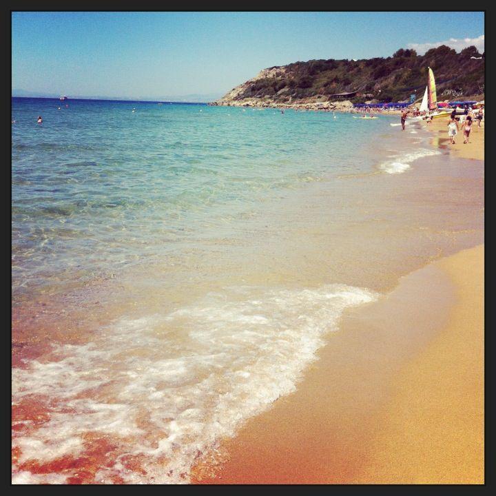 Spiaggia de Le Castella nel Crotone, Calabria (con