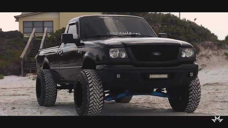 Blacked Out Cleanculture Ranger Lifted Ford Ranger Ford Ranger