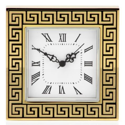 Greek Key Table Clock From Z Gallerie Home Decor