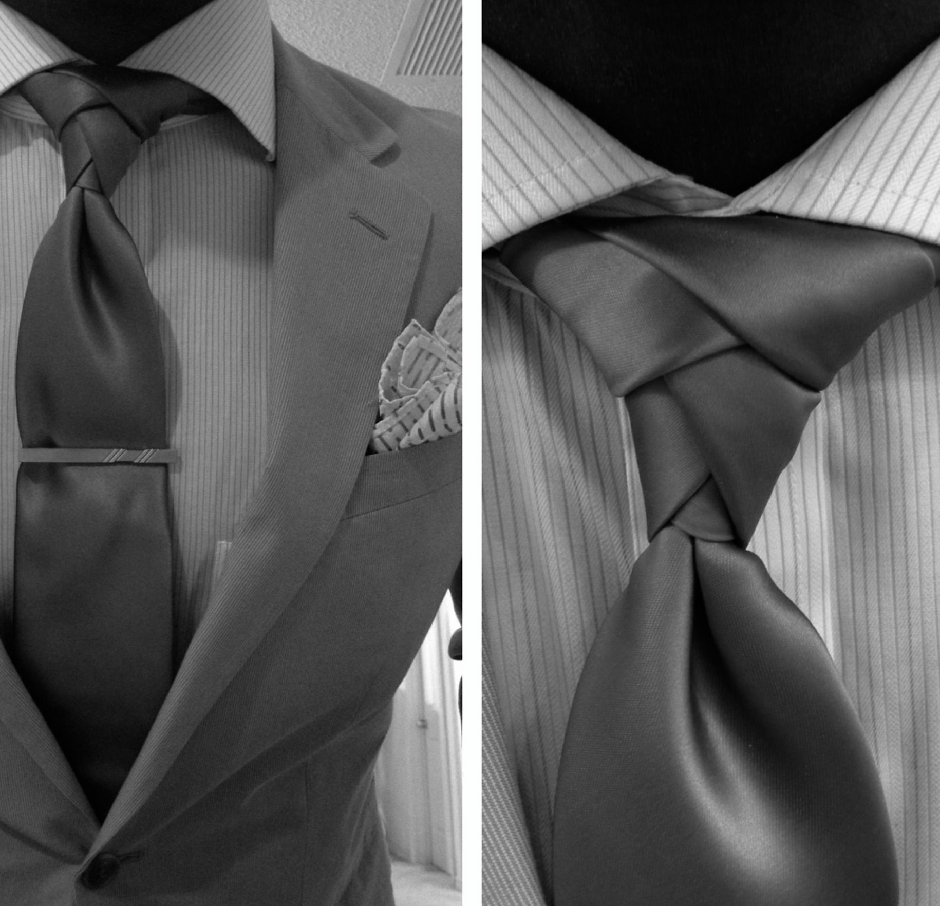 tie Eldridge Knot Is the next cool thing next to the old school Fav of mine the double windsor knot. Look out weddings this summer! I'm suited!!!!