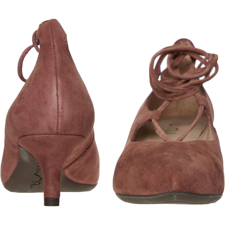 Mauve Lace Kitten Heel Shoes - Heels