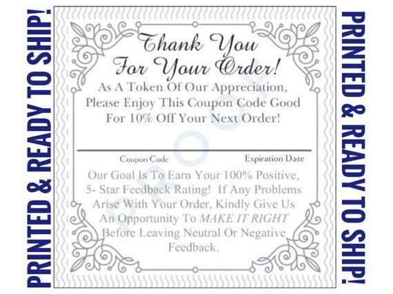 25-100pc- 2.5x2.5 PRINTED Thank You Square Cardstock Business Cards For Sellers, 10% Discount Mini #businessthankyoucards