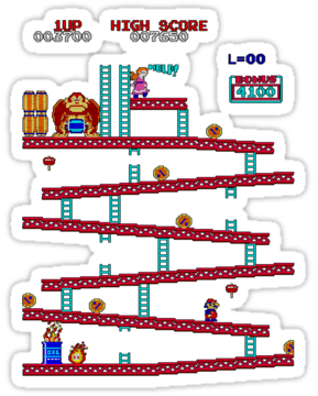Donkey Kong Arcade By Octavio Velazquez Donkey Kong Cool Stickers Arcade