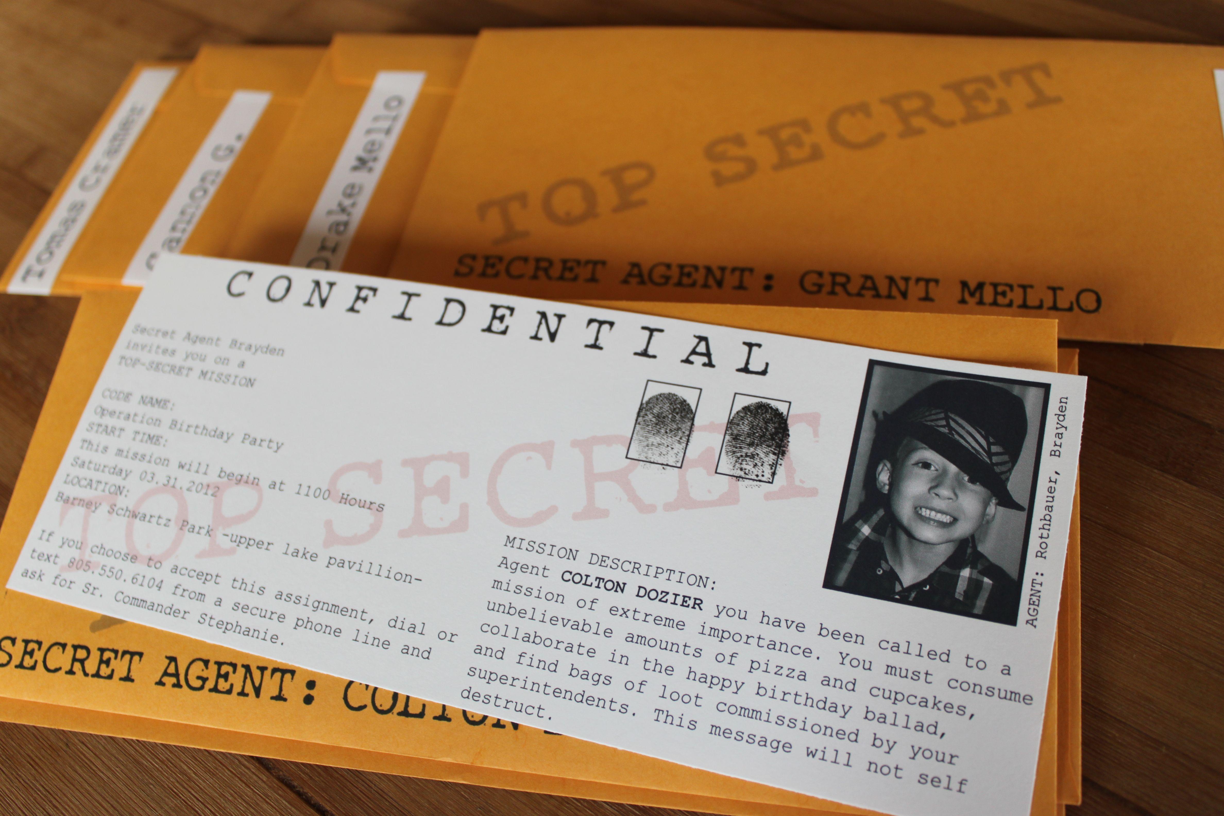 Secret Agent Party   party themes   Pinterest   Secret agent party ...