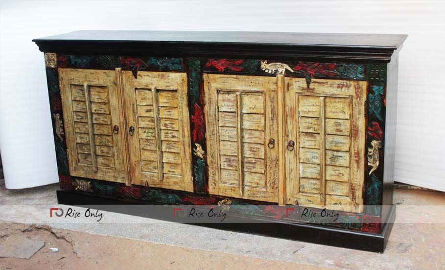 Wooden Old Door Credenza Online By Rise Only Sideboard Furniture Antique Reproduction Furniture Recycled Wood Furniture