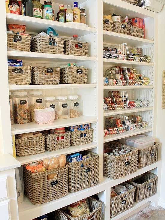 these pantries will make a type a s day pantry organisation pantry design kitchen nightmares on organizing kitchen cabinets zones id=78363