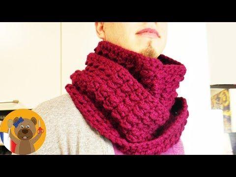 1c99aa9ab99 Echarpe pour l hiver avec joli motif   Accessoire à crocheter soi-même    DIY - YouTube