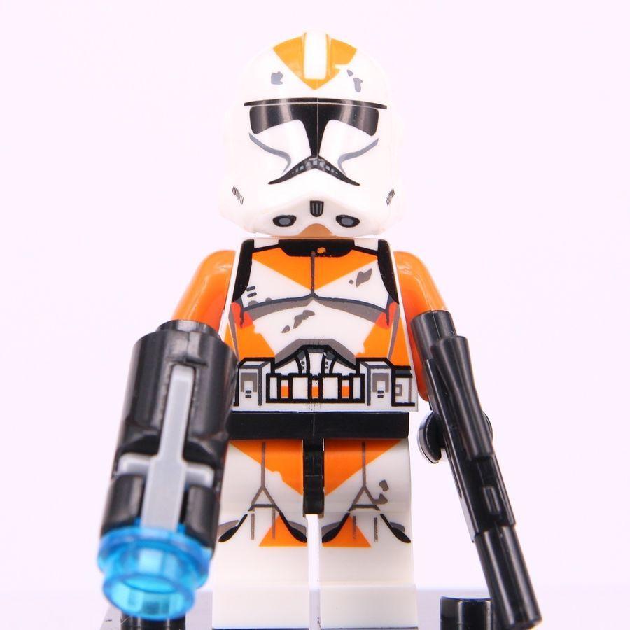 Mini Figurine NEW Fits  Star Wars Orange Utapau Clone Trooper