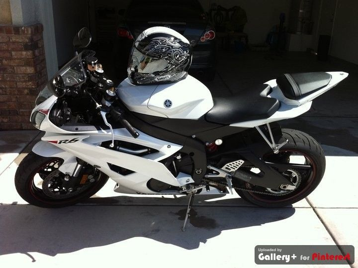Motorcycle White Motorcycle Cars: 2010 Pearl White Yamaha R6