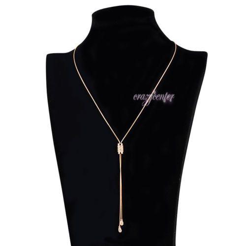 fashion woman Lariat necklace Swarovski crystal pendant necklace adjustable N494 - http://elegant.designerjewelrygalleria.com/swarovski/fashion-woman-lariat-necklace-swarovski-crystal-pendant-necklace-adjustable-n494/