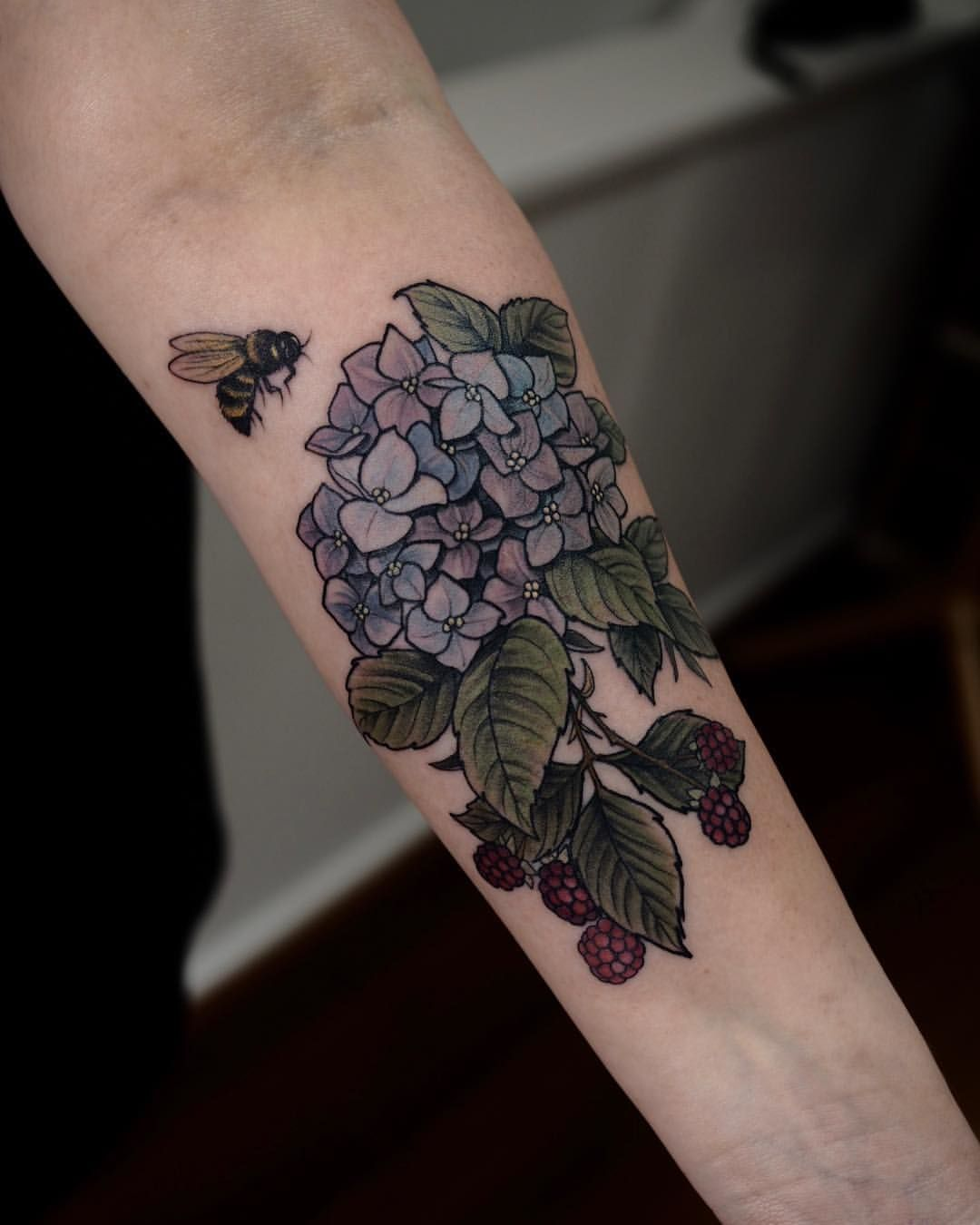 120 Charming Tattoos Idea Of Flower And Animal Hydrangea Tattoo Tattoos Sleeve Tattoos