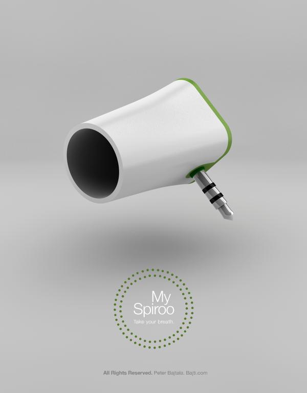 Mobel Industrial Design ~ Myspiroo medical device mobile app on industrial