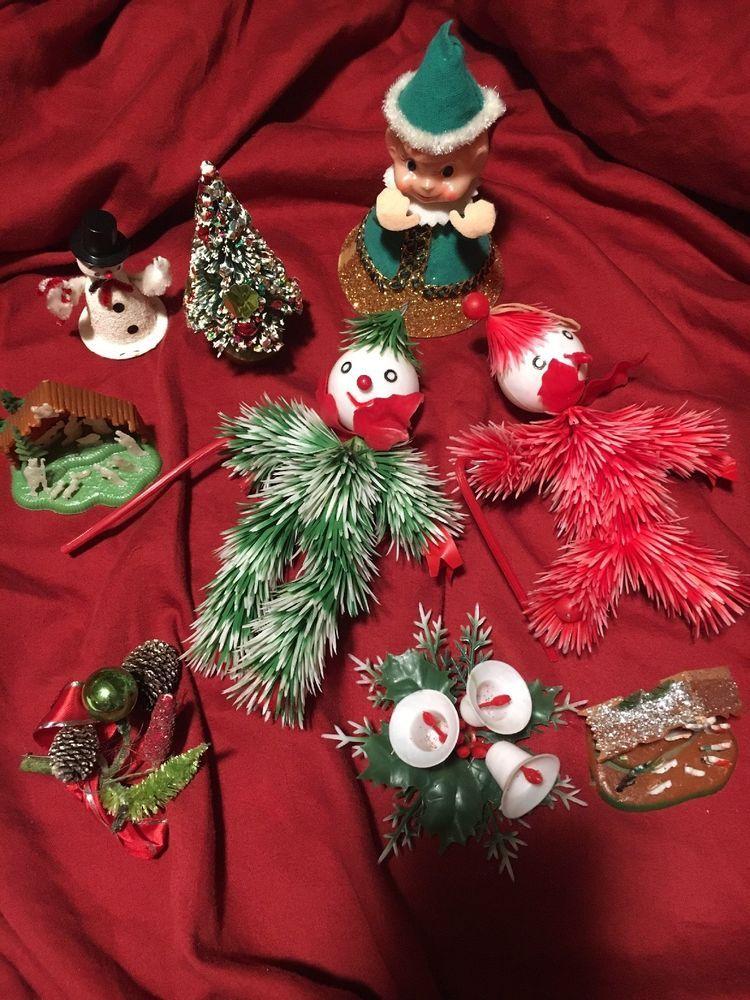Vintage Bottle Brush Flocked Christmas Tree Japan+ Miscellaneous