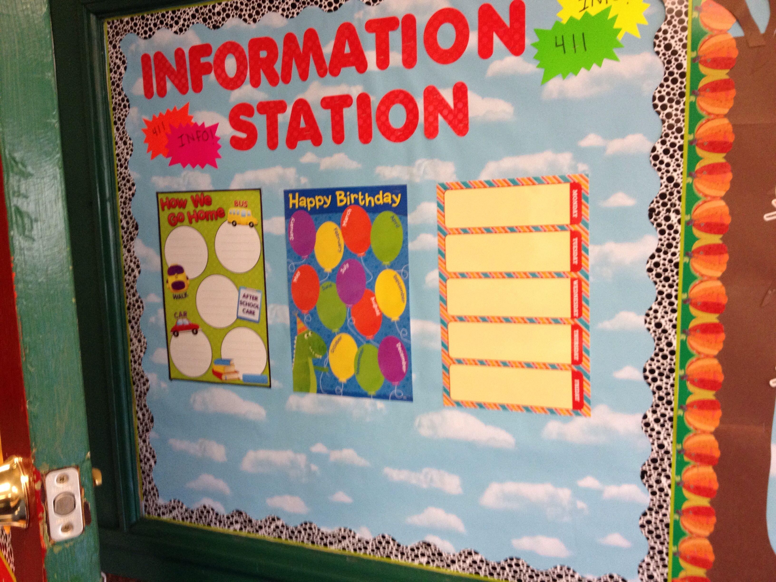 Info station...I plan to add a calendar, schedule, etc.