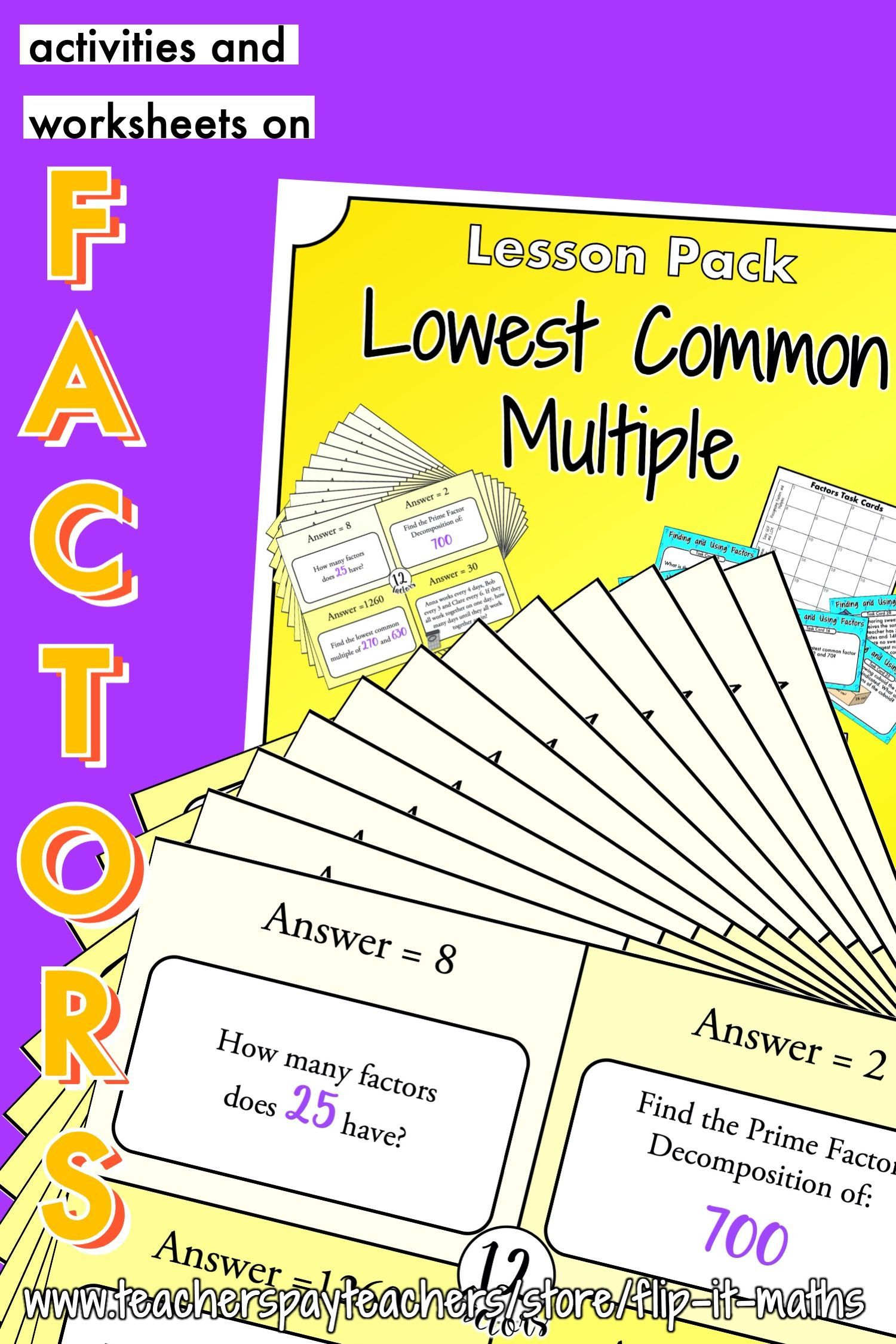 Lowest Common Multiple And Using Prime Factors In