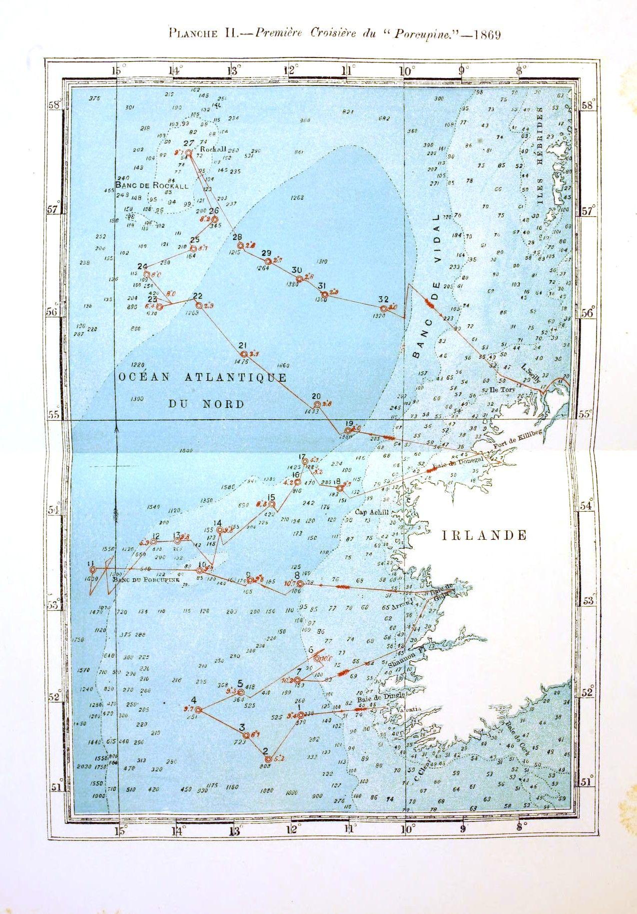 Vintage nautical map voyage of the porcupine maps pinterest