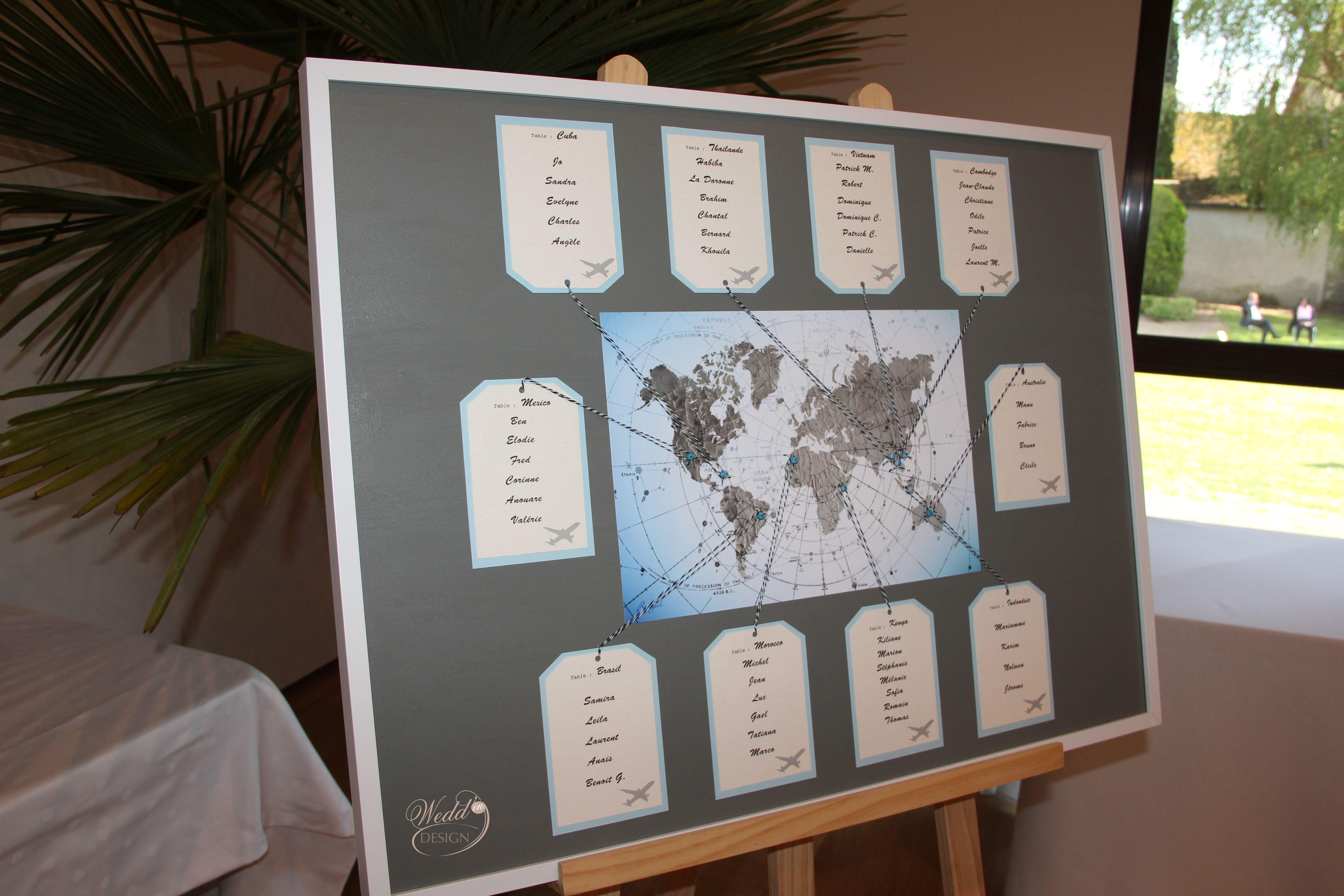 Wedd In Design Plan De Table Mariage Theme Voyage Carte Monde Decoration Mari Plan De Table Mariage Theme Voyage Plan De Table Mariage Decoration Mariage