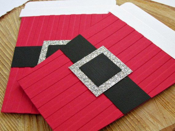 Santa Suit Christmas Coffee Cup Gift Card Holder