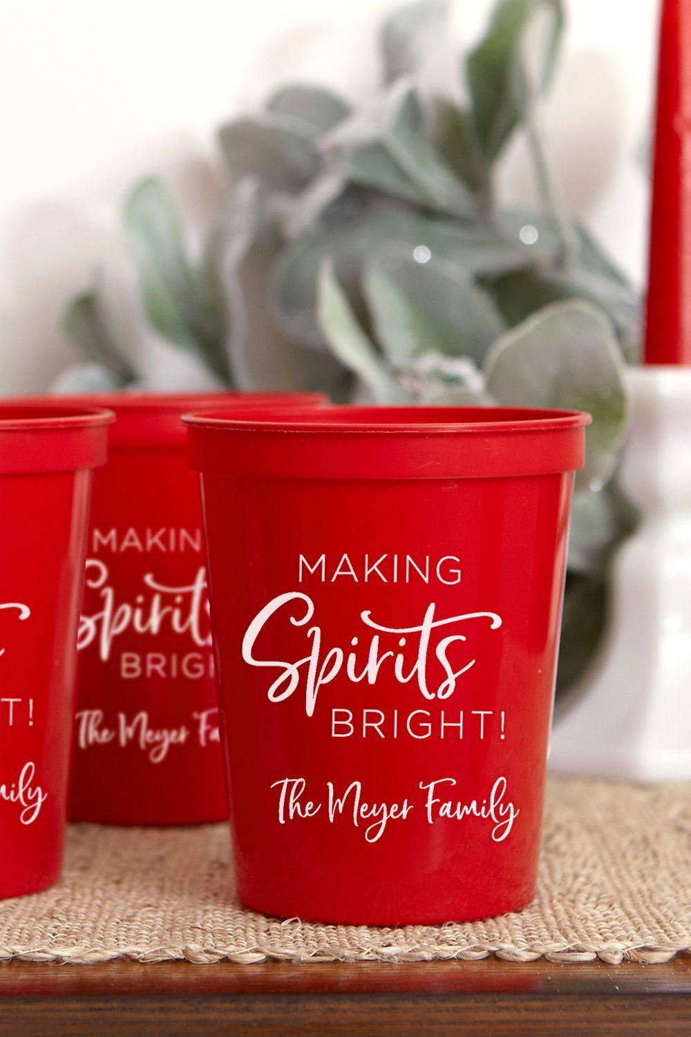 Holiday Cocktails Christmas Party Cup Christmas Cup Family Christmas Party Personalized Christmas Stadium Cup Hostess Gift