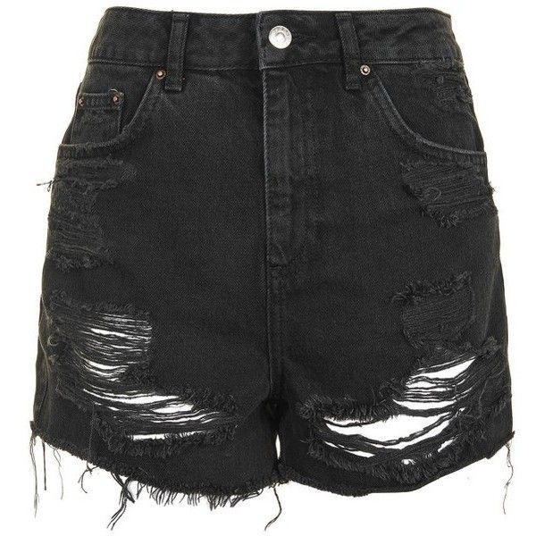 20987d99d4 Women's Topshop Ripped Mom Shorts ($60) ❤ liked on Polyvore featuring shorts,  bottoms, jeans, momma, skirts, high-waisted shorts, denim shorts, ...