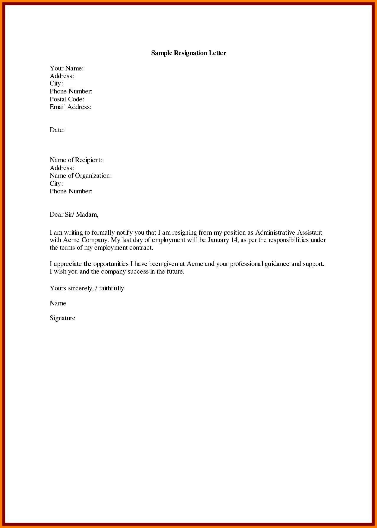 job regine letter