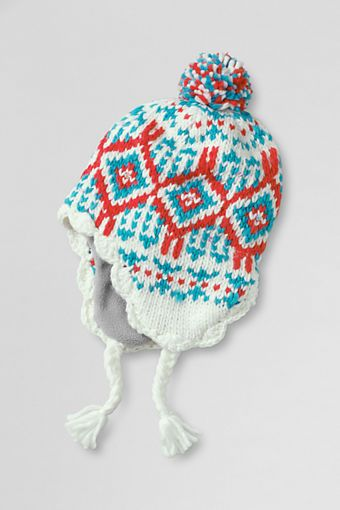 91c209259dbe4 Girls  Fair Isle Trapper Hat from Lands  End