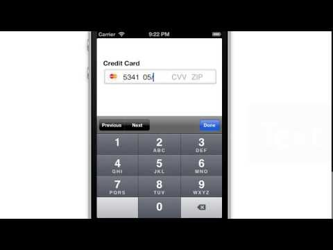LukeW Collecting Payment Information Within a Single Input Form - credit card form