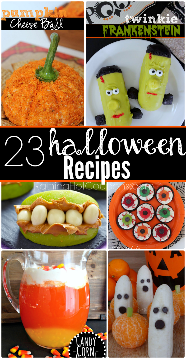 23 Halloween Recipes (Desserts, Appetizers, Drinks and more!)