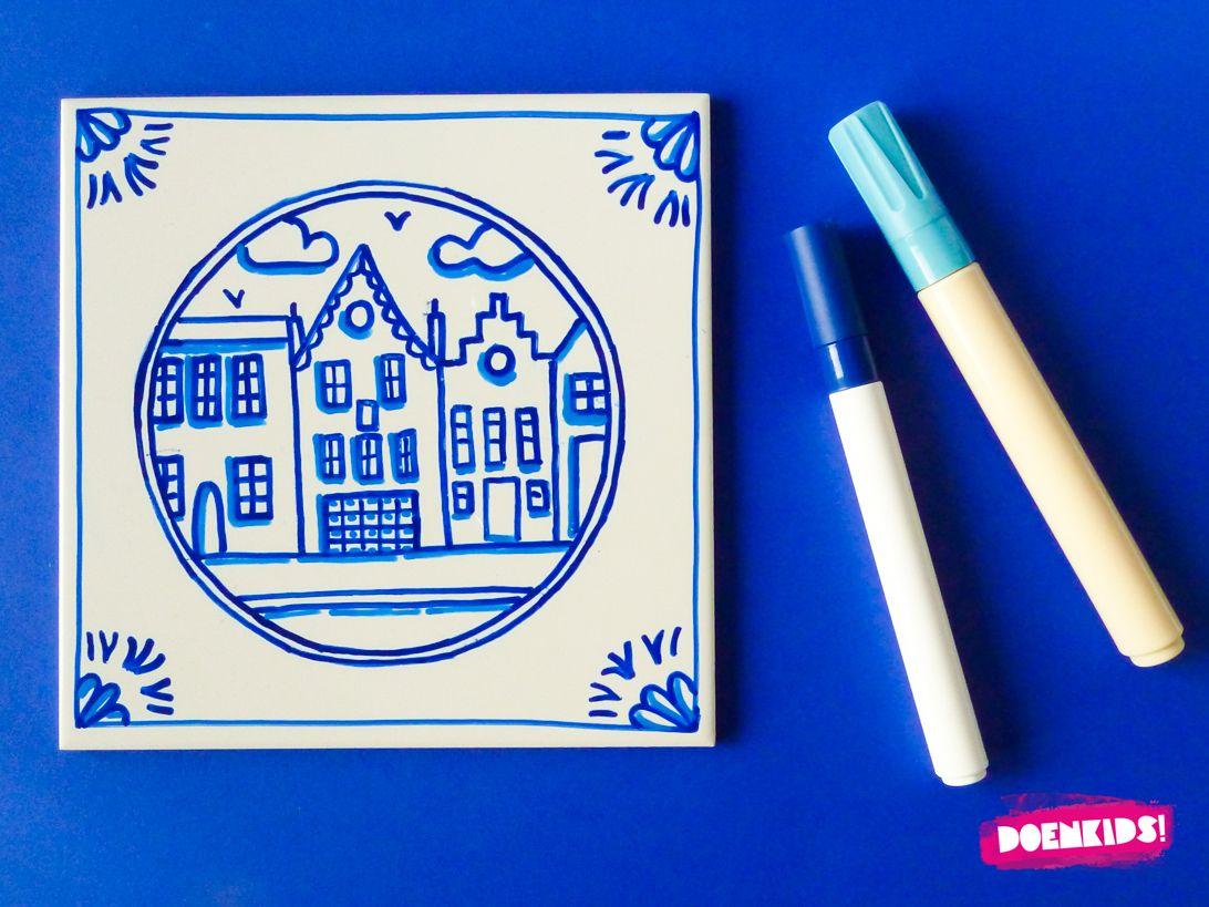 Delfts Blauwe Tegeltjes Doenkids Delft Blauw Knutselideeen
