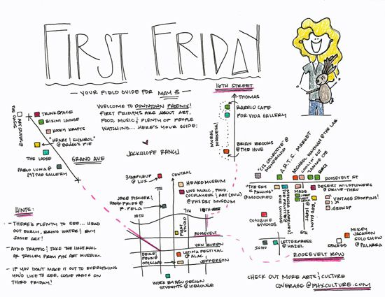 Headed to First Friday in downtown Phoenix? Take this map! | maps of on